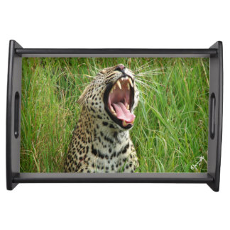 Leopard Yawning Serving Tray
