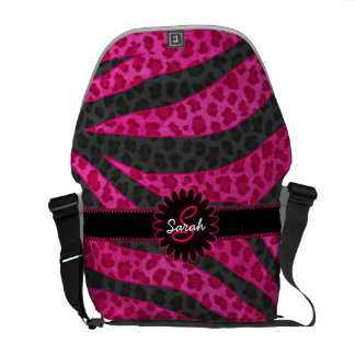 Leopard Zebra Monogram Courier Bag