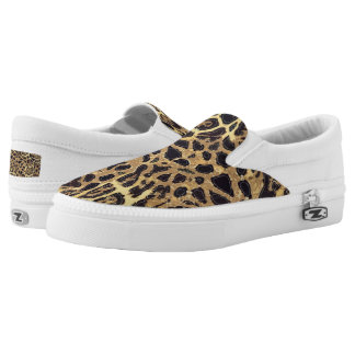 Leopard Zipz Slip On Shoes, US Men 4 / US Women 6