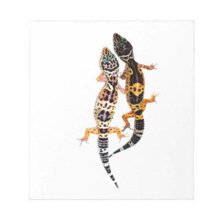 Leopardgecko couple notepad