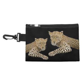 Leopards Clip-on Accessory Bag 7x5 in