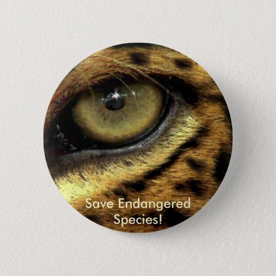 Leopard's Eye Endangered Species Button