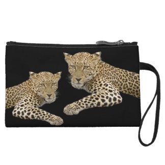 Leopards Mini Clutch 6x4 in. Wristlet Purse