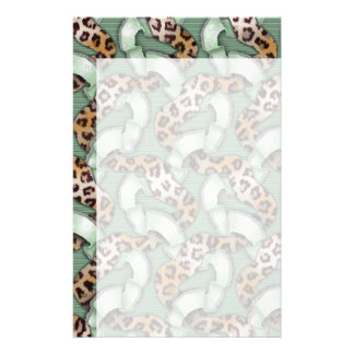 Leopards n Lace - green - Customized Stationery