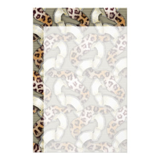 Leopards n Lace - ivory Stationery Design