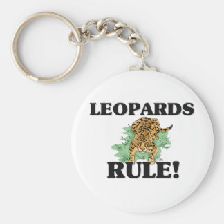 LEOPARDS Rule! Basic Round Button Key Ring
