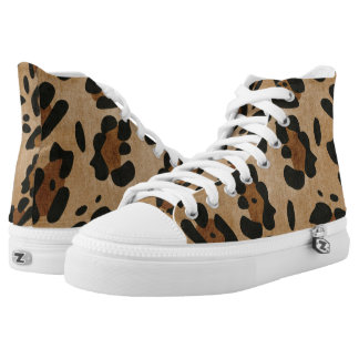 LEOPARK SKIN PRINT HIGH TOPS