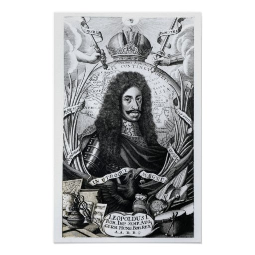 Leopold I , King of Hungary and Holy Roman Print