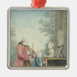 Leopold Mozart  and his Children Wolfgang Christmas Ornament