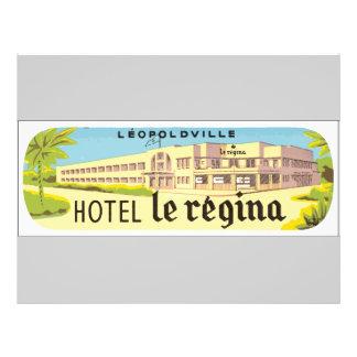 Leopoldville Hotel Le Regina, Vintage 21.5 Cm X 28 Cm Flyer