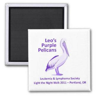 Leo's Purple Pelicans Magnet