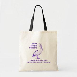 Leo's Purple Pelicans Tote Bag 2011