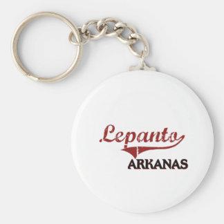 Lepanto Arkansas City Classic Basic Round Button Key Ring