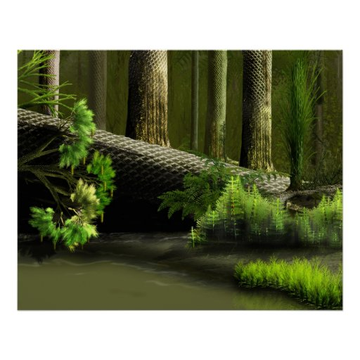 Lepidodendron Forest one Poster