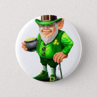 Leprechaun 6 Cm Round Badge