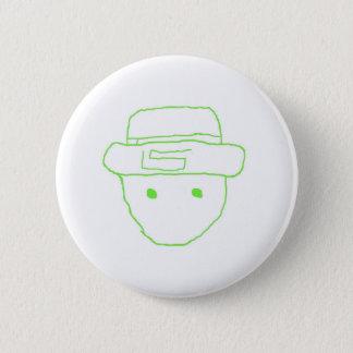 Leprechaun Amateur Sketch 6 Cm Round Badge