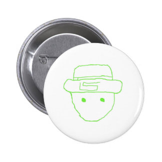 Leprechaun Amateur Sketch 6 Cm Round Badge