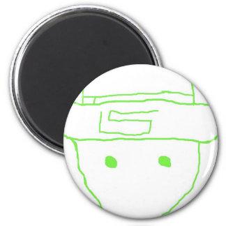 Leprechaun Amateur Sketch 6 Cm Round Magnet