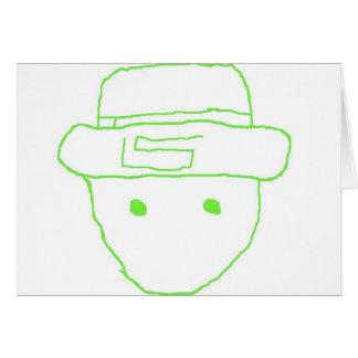 Leprechaun Amateur Sketch Greeting Card