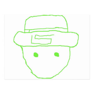 Leprechaun Amateur Sketch Postcard