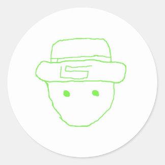 Leprechaun Amateur Sketch Sticker