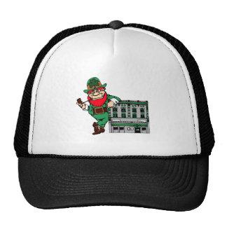 Leprechaun At Pub Mesh Hat