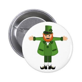 Leprechaun Pinback Buttons