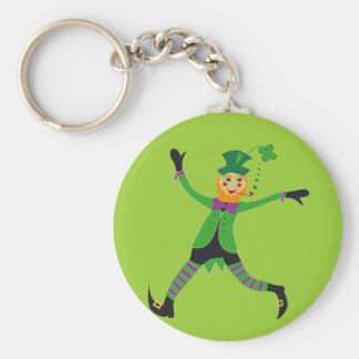 Leprechaun Basic Round Button Key Ring