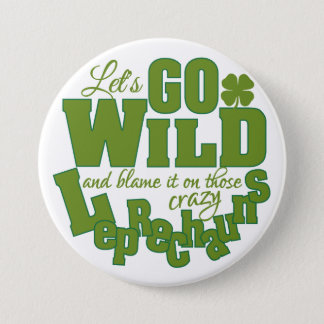 Leprechaun button - large