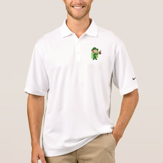 Leprechaun cartoon polo shirt