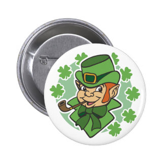 Leprechaun Cartoon St Patrick s Day Pins
