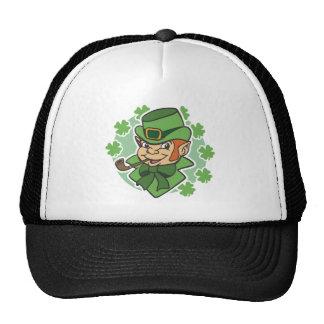 Leprechaun Cartoon St Patrick s Day Mesh Hat