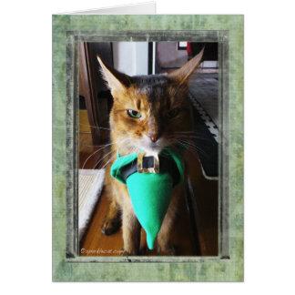 Leprechaun Cat St. Patrick's Day Greeting Card
