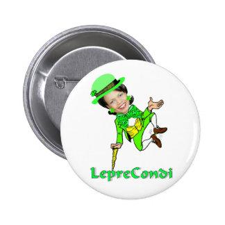 Leprechaun Condoleezza St Patrick s Day Pinback Button