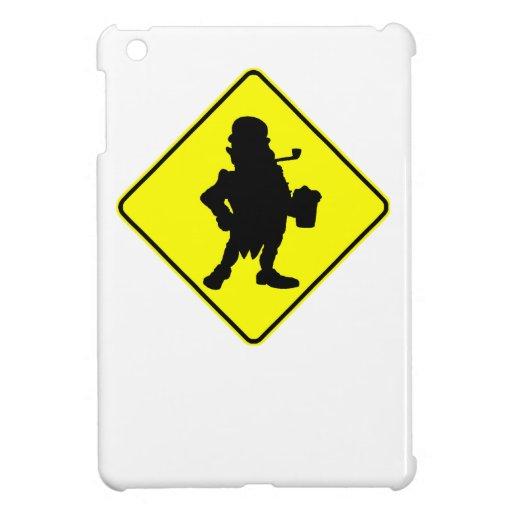 Leprechaun Crossing Sign iPad Mini Covers