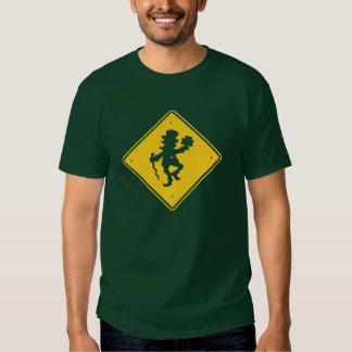Leprechaun Crossing T Shirts