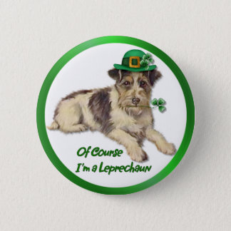 Leprechaun Dog 6 Cm Round Badge