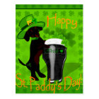 Leprechaun Doxie Postcard