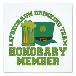 Leprechaun Drinking Team custom invitations