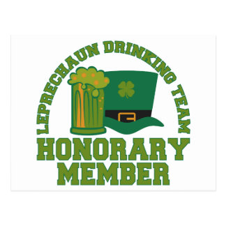 Leprechaun Drinking Team custom postcard