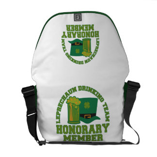 Leprechaun Drinking Team messenger bag