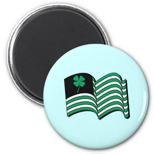 Leprechaun Flag / Irish Flag Magnets