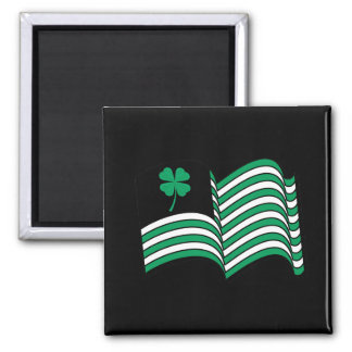 Leprechaun Flag / Irish Flag Fridge Magnet