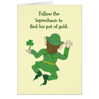 leprechaun game card