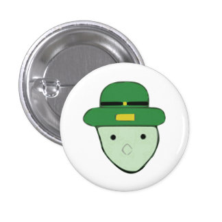 Leprechaun Green Colored Sketch Meme 3 Cm Round Badge