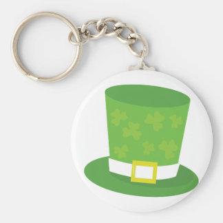 Leprechaun Hat Basic Round Button Key Ring