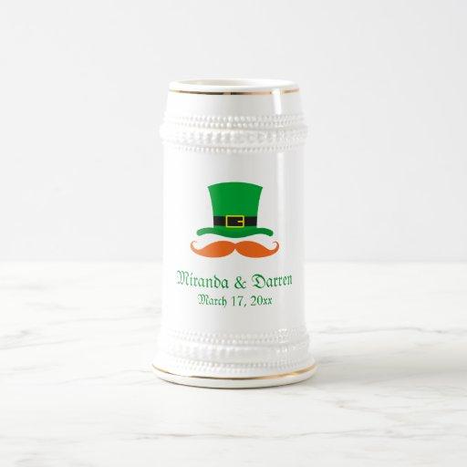Leprechaun hat mustache St Patrick's day wedding Coffee Mug