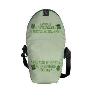 Leprechaun Hug custom messenger bag