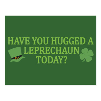 Leprechaun Hug custom postcard
