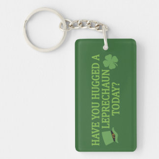 Leprechaun Hug key chain